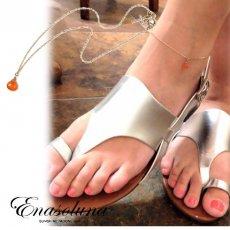 Enasoluna(エナソルーナ) <br>Marron sugar anklet カーネリアン ◆木下優樹菜さん愛用◆【AN-872】 ブレスレット・アンクレット