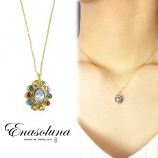 Enasoluna(エナソルーナ)<br>Precious stone necklace oval【EN-NK-900】