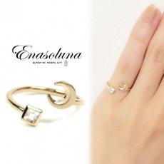 Enasoluna(エナソルーナ)<br>Twinkle Ring(Moon)  ◆木下優樹菜さん愛用 ◆【EN-RG-884(Moon)】 リング