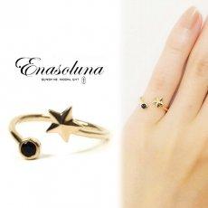Enasoluna(エナソルーナ)<br>Twinkle Ring(Star)【EN-RG-885(Star)】 リング