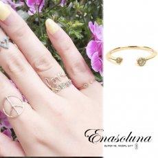 Enasoluna(エナソルーナ)<br>Twin dia ring【RG-962】 リング