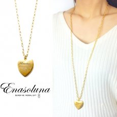 Enasoluna(エナソルーナ)<br>Message in a heart necklace  【NK-976】 ネックレス