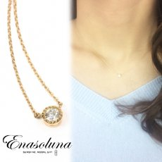 Enasoluna(エナソルーナ)<br>Pure dia necklace  【NK-1000】 18ss ネックレス sale