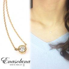 Enasoluna(エナソルーナ)<br>Pure dia necklace  【NK-1000】 18ss ネックレス