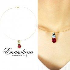 Enasoluna(エナソルーナ)<br>Trois jewel necklace(Star)  【NK-1008】◆サエコさん愛用◆18ss ネックレス