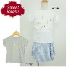 Sweet Room (Little deicy,me kidsライン)<br>BEACHプリントTシャツ  15春夏【711605】 トップス