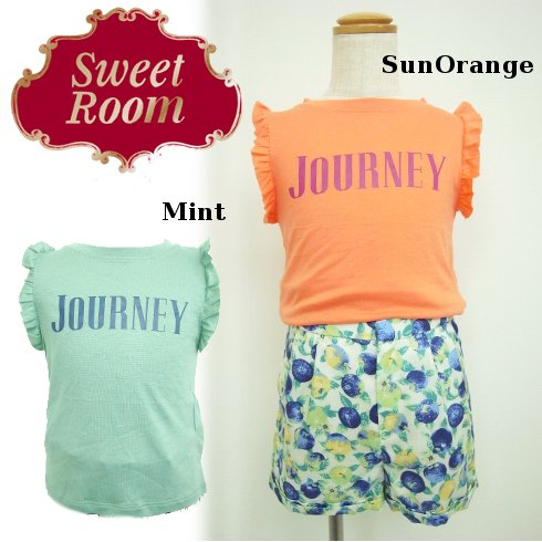 Sweet Room (Little deicy,me kidsライン)<br>フリルロゴTシャツ  15春夏【811605】 トップス sale