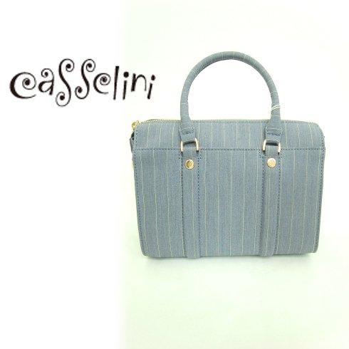 CASSELINI (キャセリーニ)<br>ファブリックボストン【グレー】  15春夏【25-1902-1】 ハンド・ショルダーバッグ sale