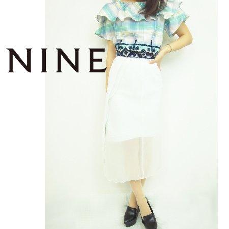 NINE(ナイン)<br>フロントスリットタイトスカート  15春夏.【236061】 タイトスカート sale
