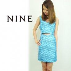 NINE(ナイン)<br>幾何学ジャガードワンピース  15春夏.【239091】 タイトワンピース sale