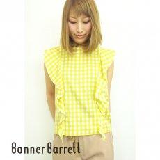 BannerBarrett(バナーバレット)<br>ギンガムブラウス  15春夏.【15107158】 シャツ・ブラウス