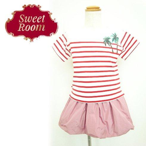 Sweet Room (Little deicy,me kidsライン)<br>ヤシの木ボーダーTシャツ  15春夏.【712622】 トップス sale