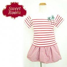Sweet Room (Little deicy,me kidsライン)<br>ヤシの木ボーダーTシャツ  15春夏.【712622】 トップス