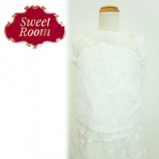 Sweet Room (Little deicy,me kidsライン)<br>ヤシ柄刺繍オーガンジートップス  15春夏.【712713】 トップス
