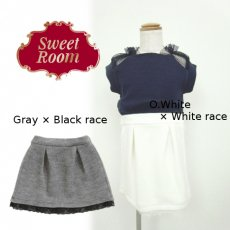 Sweet Room (Little deicy,me kidsライン)<br>ヘムレーススカート  15春夏.【712917】 ボトム