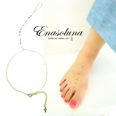Enasoluna(エナソルーナ)<br>Colors anklet 【AN-1047】