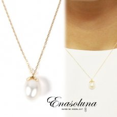 Enasoluna(エナソルーナ)<br>Bell pearl necklace 【NK-1101】 ネックレス