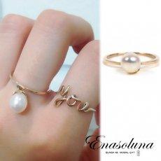 Enasoluna(エナソルーナ)<br>Bell pearl ring  【RG-1102】 リング