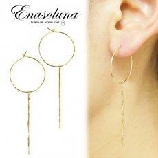 Enasoluna(エナソルーナ)<br>Drip pieced 【PS-1064】 ピアス・イヤリング