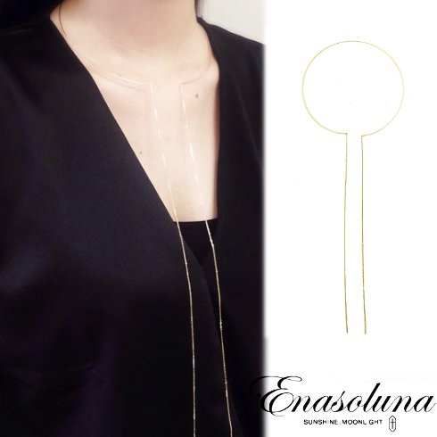 Enasoluna(エナソルーナ)<br>Bow tie necklace【NK-1063】 ネックレス