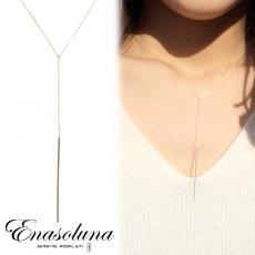 Enasoluna(エナソルーナ)<br>Shining road necklace シャイニングロードネックレス ◆梨花さん愛用◆9月初旬予約【NK-1038】 ネックレス