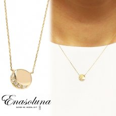 Enasoluna(エナソルーナ)<br>W moon necklace【NK-1094】 ネックレス クリスマス