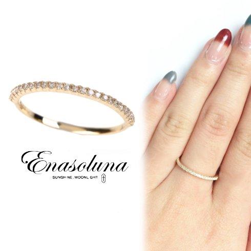 Enasoluna(エナソルーナ)<br>Tiny ring(ダイヤモンド) 【RG-1016】 リング