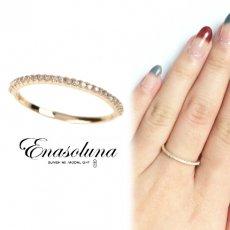 Enasoluna(エナソルーナ)<br>Tiny ring(ダイヤモンド) 【RG-1016】 リング クリスマス