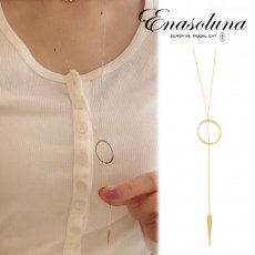 Enasoluna(エナソルーナ)<br>Arrow necklace 【NK-1108】