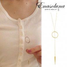 Enasoluna(エナソルーナ)<br>Arrow necklace【NK-1108】 ネックレス