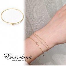 Enasoluna(エナソルーナ)<br>Single dia bracelet 【BS-1115】 ブレスレット・アンクレット