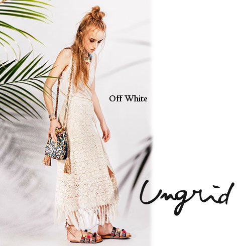 Ungrid(アングリッド)<br>かぎ針ラップマキシスカート  16春夏.【111620809901】 ロング・マキシスカート sale
