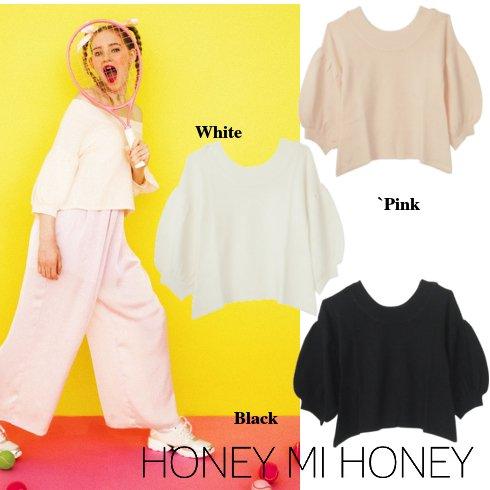 Honey mi Honey (ハニーミーハニー)<br>オフショルダーニット  16春夏.【16S-AN-19】 ニットトップス sale