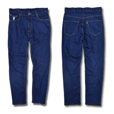 afterbase [D-BOY] STRETCH DENIM PANTS / NAVY