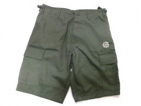 GRAPEVINE ASIA STAMP CARGO SHORT PANTS (OLIVE)