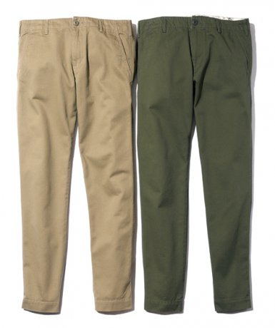 BACK CHANNEL / TAPERED CHINO PANTS(BEIGE, O.D.)