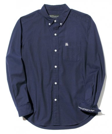 BACK CHANNEL / OX B.D. SHIRT(NAVY)