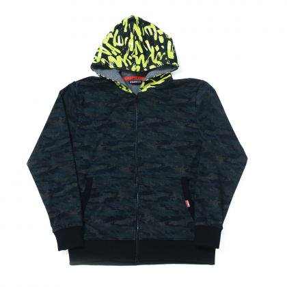 SQUARE / CAMO SWEAT HOODY