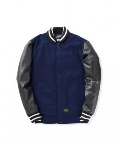 FTC / MELTON VARSITY JACKET(NAVY)