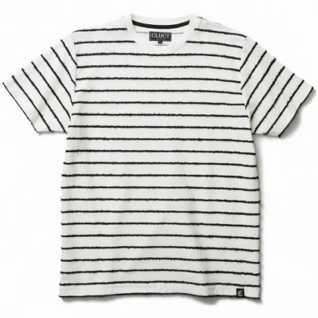 CLUCT / MOLE FUR STRIPE S/S TEE(WHITE)