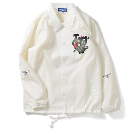 <img class='new_mark_img1' src='https://img.shop-pro.jp/img/new/icons20.gif' style='border:none;display:inline;margin:0px;padding:0px;width:auto;' />LAFAYETTE / FAR EAST DRAGON COACH JACKET(WHITE)