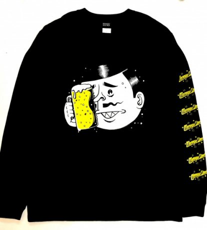 MANAGE*DESTROY / ESOW  BEER L/S TEE [BLACK]