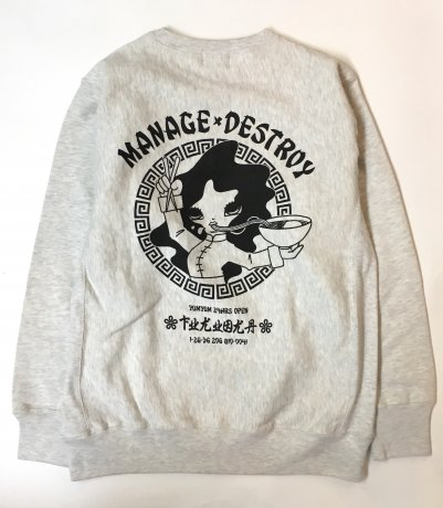 MANAGE*DESTROY / YUMYUM NOODLE SWEAT [OATMEAL]