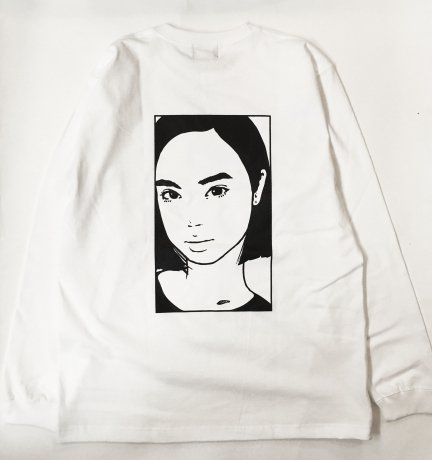 M*D / KYNE 2ND LS T-shirts [WHT]