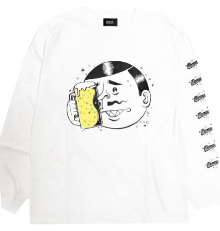 MANAGE*DESTROY / ESOW  BEER L/S TEE [WHITE]