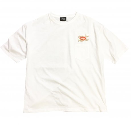 MANAGE*DESTROY / LIPS POCKET Ts [WHT]