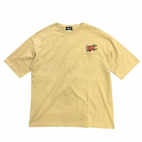 MANAGE*DESTROY / LIPS POCKET Ts [SAND]