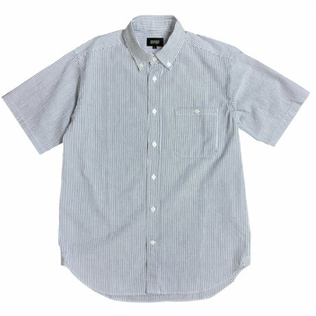 MANAGE*DESTROY / SEERSUCKER B.D. S/S SHIRTS [BLUE STRIPE]