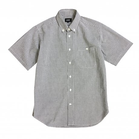 MANAGE*DESTROY / SEERSUCKER B.D. S/S SHIRTS [GINGHAM CHECK]