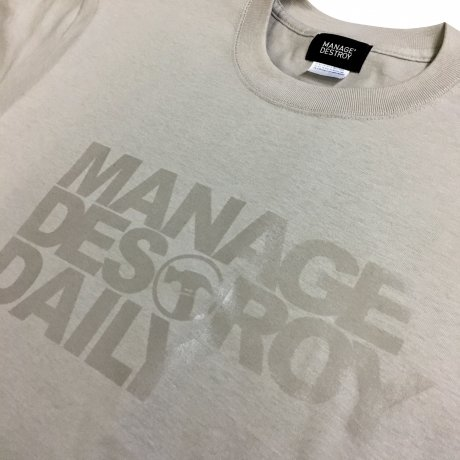 MANAGE*DESTROY / NOE246 - DAILY Ts [LIGHTGRAYxCLEAR]